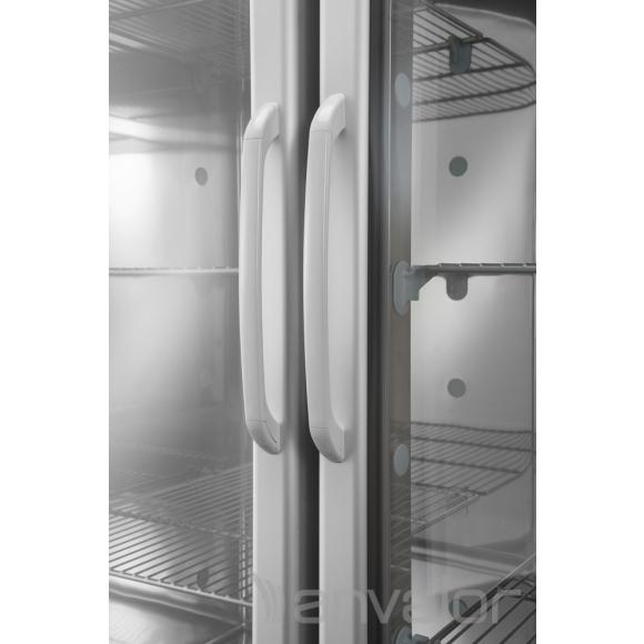PROFESSZIONÁLIS HŰTŐSZEKRÉNY, 1400 literes, rozsdamentes, üvegajtós,légkeveréses