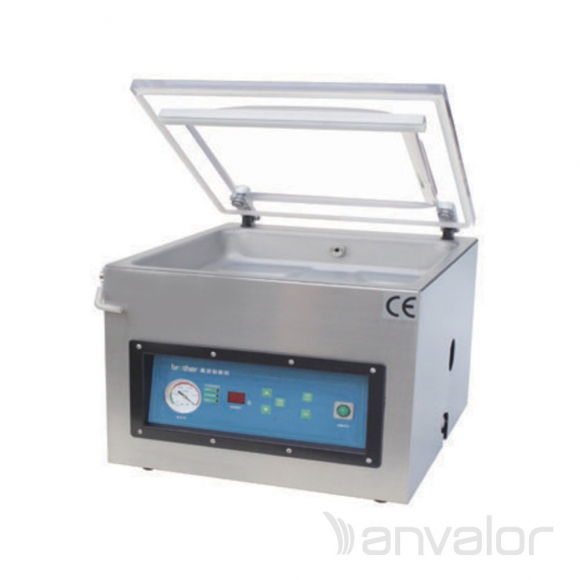VÁKUUMCSOMAGOLÓ, digitális, 400 mm-es hegesztés, asztali