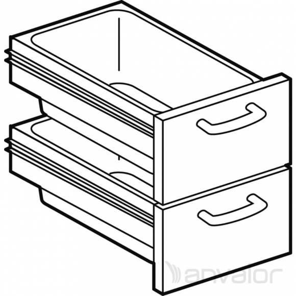 Fiók Szett, 2 db-os, 64-es alépítményhez | Anvalor