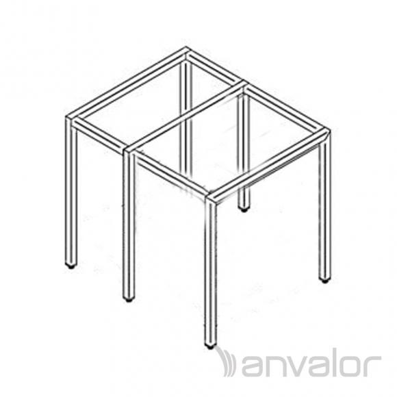 Rozsdamentes kombi sütő állvány, váz szerkezet összekötőkkel