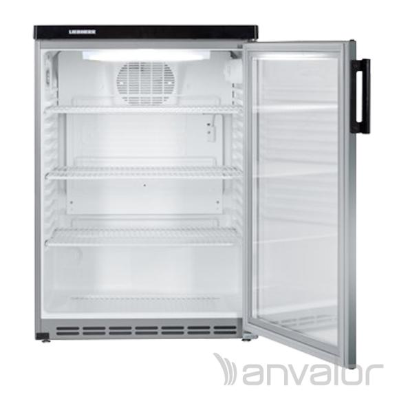 IPARI HŰTŐSZEKRÉNY, 171 literes, ventillációs hűtéssel, üvegajtóval