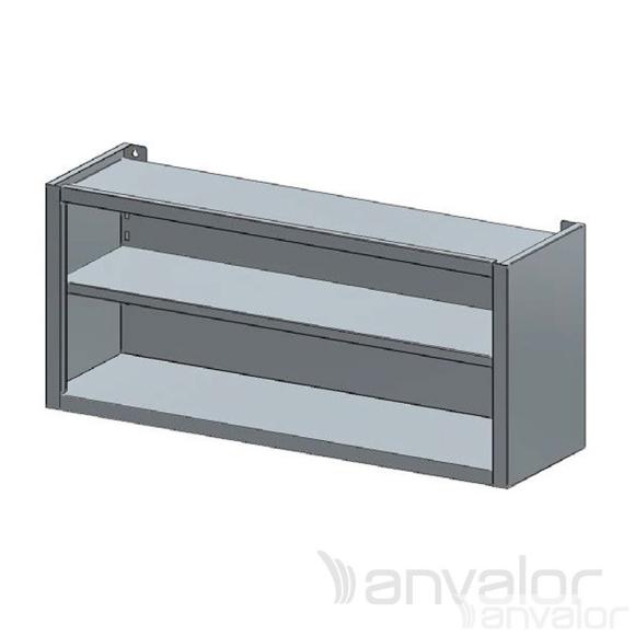 FALI SZEKRÉNY, nyitott, köztes polccal, 1400x400x600 mm