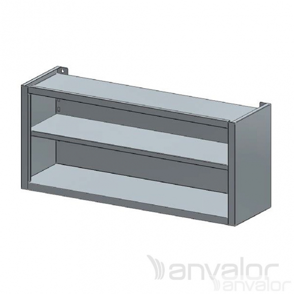FALI SZEKRÉNY, nyitott, köztes polccal, 1500x400x600 mm
