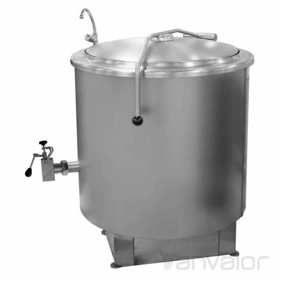 FŐZŐÜST, gőzüzemű, 300 literes, indirekt, manuális vízfeltöltés