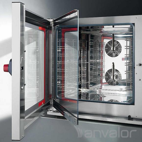 KOMBI SÜTŐ-GŐZPÁROLÓ, elektromos, légkeveréses, 7 tálcás, manuális, 10,5 kW