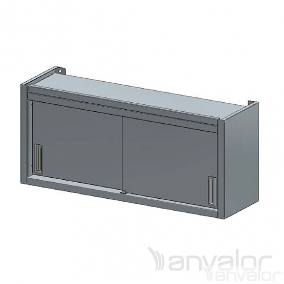 FALI SZEKRÉNY, tolóajtós vagy nyílóajtós, köztes polccal, 1100x400x600 mm