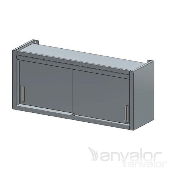 FALI SZEKRÉNY, tolóajtós vagy nyílóajtós, köztes polccal, 1500x400x600 mm