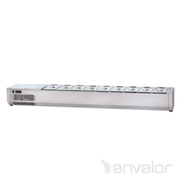 FELTÉTHŰTŐ, 1500 mm, 6xGN1/4, leheletvédő nélkül, bal oldali hűtőegységgel